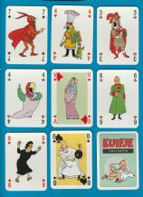 Collectible Non-standard playing cards Tin-Tin artwork by Herge